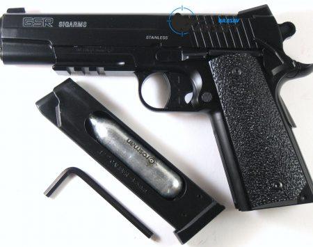 Pistol Airsoft CyberGun Sig Sauer 1911 GSR metal slide