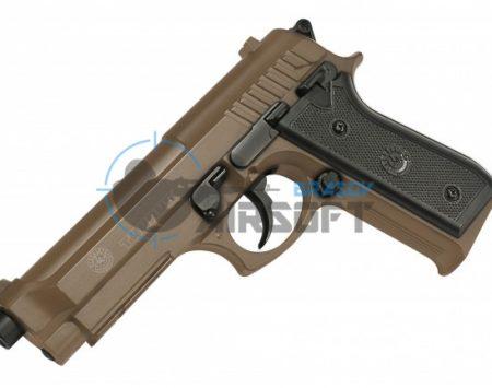 Pistol Airsoft CyberGun Taurus PT92 metal slide TAN